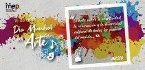 Se ilustra una pared con motas de pintura de diferentes colores, simbolos de art