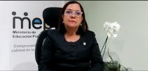 Ministra de Educación, Guiselle Cruz Maduro.