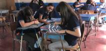Estudiantes del Liceo de Santo Domingo de Heredia en clases
