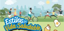 afiche digital de Estilos de Vida Saludable