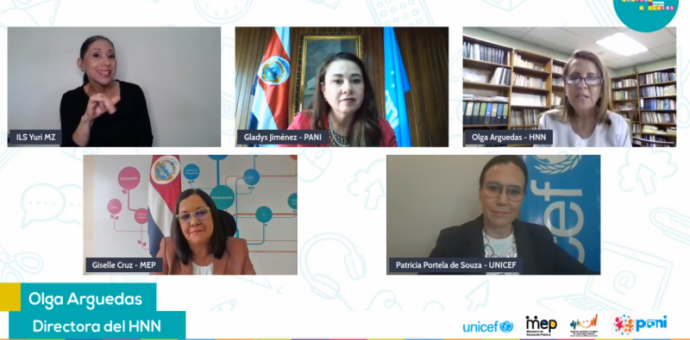 Conversatorio virtual autoridades educativas, de niññez y adolescencia y salud