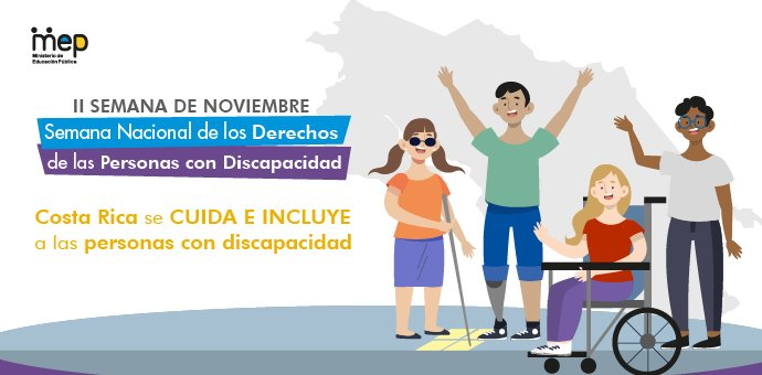 magen representa a diferentes personas con distintas discapacidades