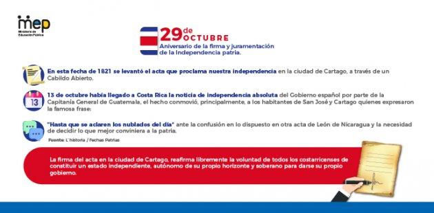 Afiche digital sobre el aniversario de la firma de la indepencia patria