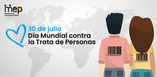 Afiche dos personas de diferente género con un código de barras en la espalda.