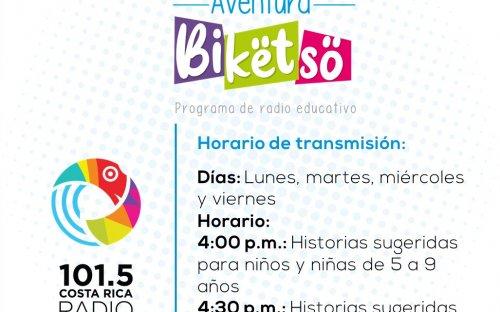 101.5 Costa Rica Radio, lunes, martes y miércoles de 4:00 p.m. a 4:30 p.m.