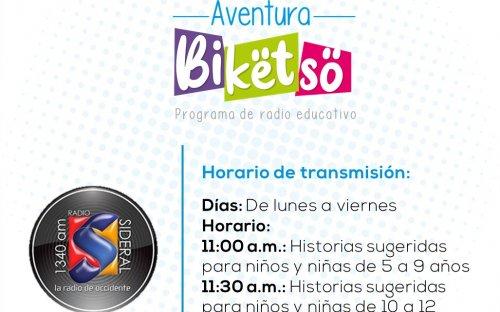 1340 AM Radio Sideral, de lunes a viernes de 11:00 a.m. a 11:30 a.m.