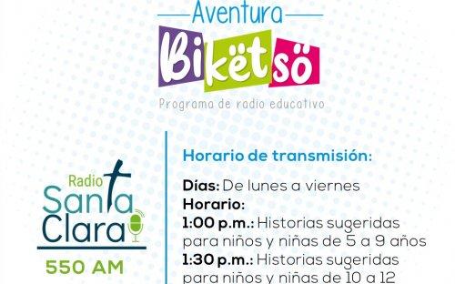 550 AM Radio Santa Clara, de lunes a viernes de 1:00 p.m. a 1:30 p.m.