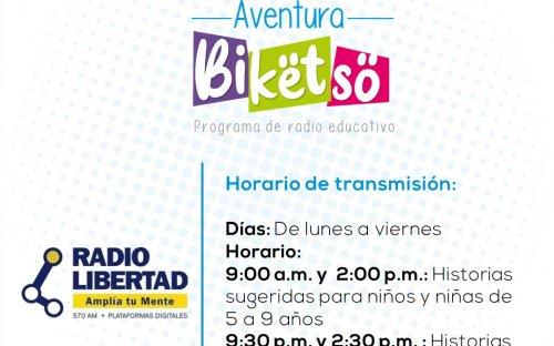 570 AM Radio Libertad, de lunes a viernes de 9:00 a.m. a 2:30 p.m.