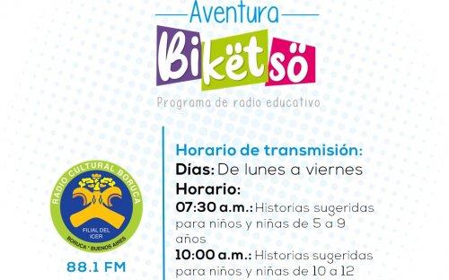 88.1 Radio Cultura Boruka, de lunes a viernes de 7:30 a.m. a 10:00 a.m.
