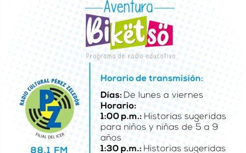 88.1 Radio Cultural Pérez Zeledón, de lunes a viernes de 1:00 p.m. a 1:30 p.m.