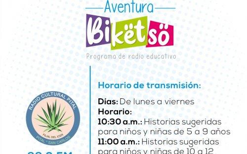 88.3 Radio Cultura Pital, de lunes a viernes de 10:30 a.m. a 11:00 a.m.