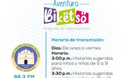 88.3 Radio Sistema Cultura Nicoya, de lunes a viernes de 3:00 p.m. a 3:30 p.m