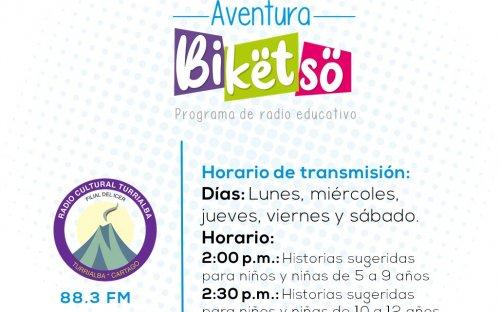 88.3 Radio Sistema Cultural Turrialba, de lunes a viernes 2:00 p.m. a 2:30 p.m.