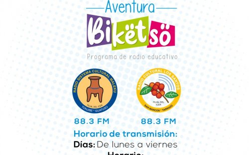 88.3 Sistema Cultura 4, de lunes a viernes de 8:00 a.m. a 8:30 a.m.