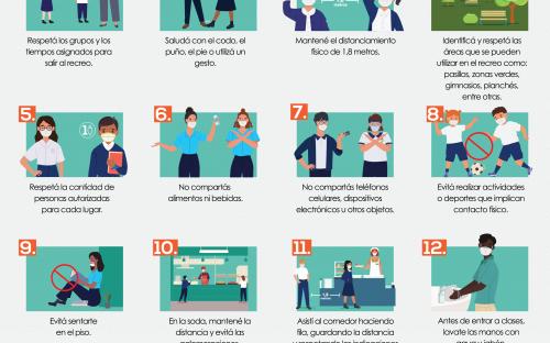 Afiche reglas para compartir en los recreos