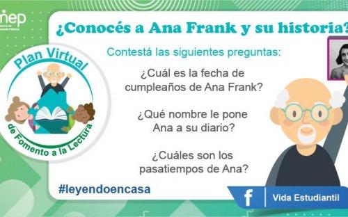 Reto #31 ¿Conoces a Ana Frank y su historia?