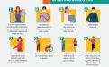 Afiche de reglas para la atención del público en el centro educativo